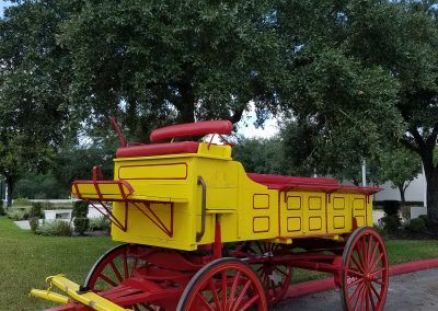 12-Person Yellow and Red Wagon At Houston Carriage